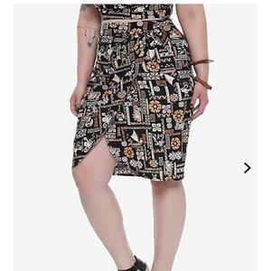 Her Universe Disney Moana retro wrap skirt, plus